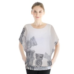 Background Retro Abstract Pattern Blouse