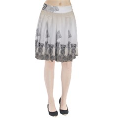 Background Retro Abstract Pattern Pleated Skirt