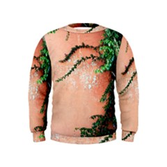 Background Stone Wall Pink Tree Kids  Sweatshirt
