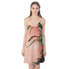 Background Stone Wall Pink Tree Camis Nightgown