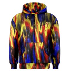 Banner Header Plasma Fractal Men s Zipper Hoodie