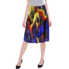 Banner Header Plasma Fractal Midi Beach Skirt