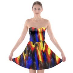 Banner Header Plasma Fractal Strapless Bra Top Dress
