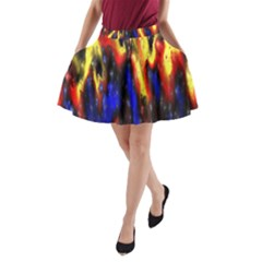 Banner Header Plasma Fractal A-Line Pocket Skirt