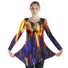 Banner Header Plasma Fractal Long Sleeve Tunic