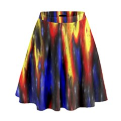 Banner Header Plasma Fractal High Waist Skirt