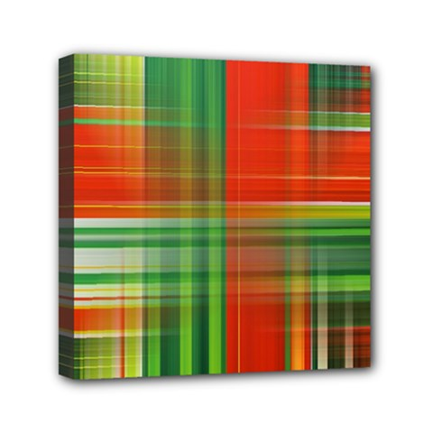 Background Texture Structure Green Mini Canvas 6  x 6