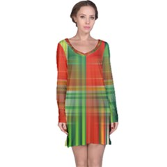 Background Texture Structure Green Long Sleeve Nightdress