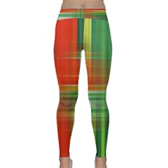 Background Texture Structure Green Classic Yoga Leggings