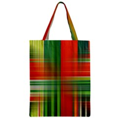Background Texture Structure Green Zipper Classic Tote Bag