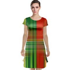 Background Texture Structure Green Cap Sleeve Nightdress
