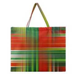 Background Texture Structure Green Zipper Large Tote Bag