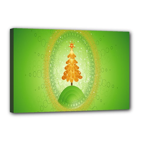 Beautiful Christmas Tree Design Canvas 18  X 12