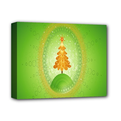 Beautiful Christmas Tree Design Deluxe Canvas 14  x 11