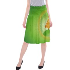 Beautiful Christmas Tree Design Midi Beach Skirt