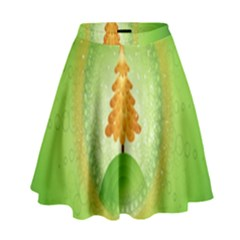 Beautiful Christmas Tree Design High Waist Skirt