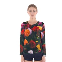 Beautifull Flowers Women s Long Sleeve Tee