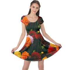 Beautifull Flowers Cap Sleeve Dresses