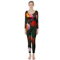 Beautifull Flowers Long Sleeve Catsuit