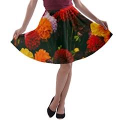 Beautifull Flowers A-line Skater Skirt