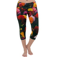 Beautifull Flowers Capri Yoga Leggings