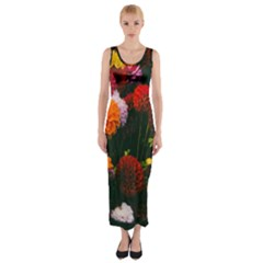 Beautifull Flowers Fitted Maxi Dress