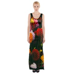 Beautifull Flowers Maxi Thigh Split Dress