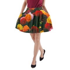 Beautifull Flowers A-Line Pocket Skirt