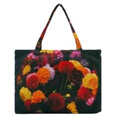 Beautifull Flowers Medium Zipper Tote Bag