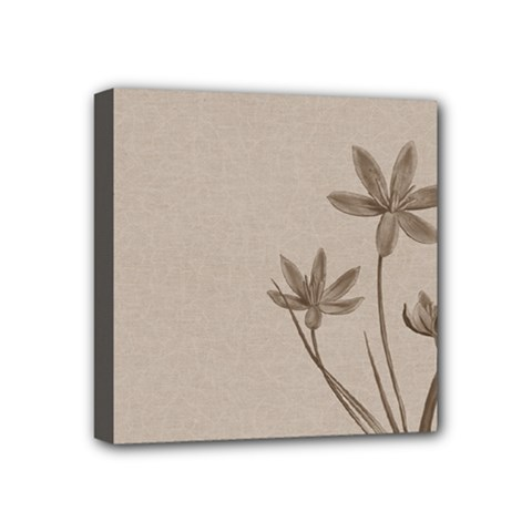 Background Vintage Drawing Sepia Mini Canvas 4  x 4