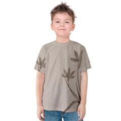 Background Vintage Drawing Sepia Kids  Cotton Tee