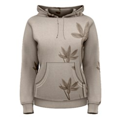 Background Vintage Drawing Sepia Women s Pullover Hoodie