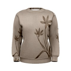 Background Vintage Drawing Sepia Women s Sweatshirt