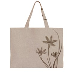 Background Vintage Drawing Sepia Large Tote Bag