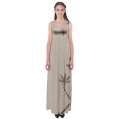 Background Vintage Drawing Sepia Empire Waist Maxi Dress