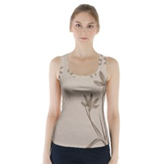 Background Vintage Drawing Sepia Racer Back Sports Top