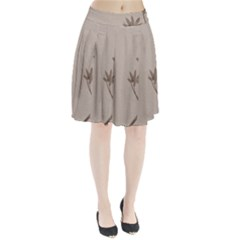 Background Vintage Drawing Sepia Pleated Skirt