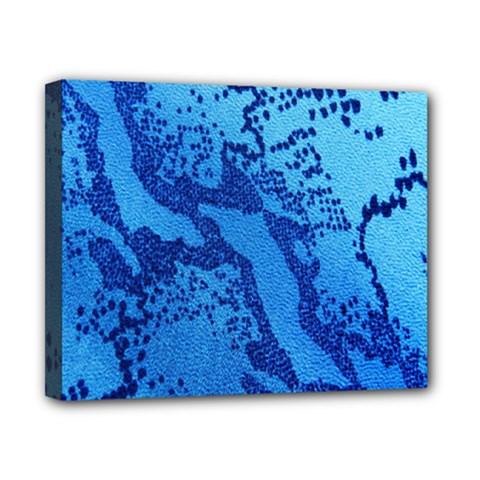 Background Tissu Fleur Bleu Canvas 10  x 8