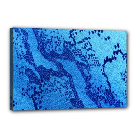 Background Tissu Fleur Bleu Canvas 18  X 12