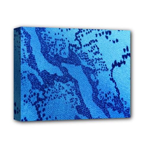 Background Tissu Fleur Bleu Deluxe Canvas 14  x 11