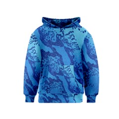 Background Tissu Fleur Bleu Kids  Pullover Hoodie