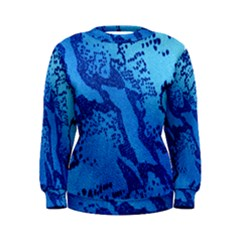 Background Tissu Fleur Bleu Women s Sweatshirt