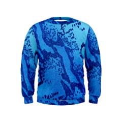 Background Tissu Fleur Bleu Kids  Sweatshirt