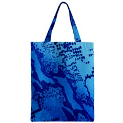 Background Tissu Fleur Bleu Zipper Classic Tote Bag