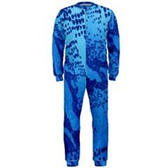 Background Tissu Fleur Bleu Onepiece Jumpsuit (men)