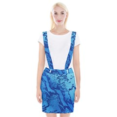 Background Tissu Fleur Bleu Suspender Skirt