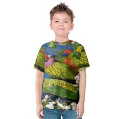 Beautifull Parrots Bird Kids  Cotton Tee