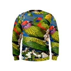Beautifull Parrots Bird Kids  Sweatshirt