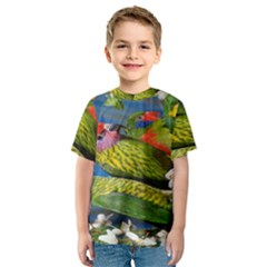 Beautifull Parrots Bird Kids  Sport Mesh Tee