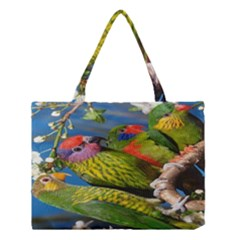 Beautifull Parrots Bird Medium Tote Bag